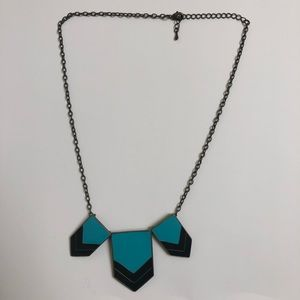 ⚡️ Statement Necklace with Black and Teal Arrows